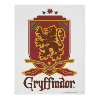 Insignia de Gryffindor Quidditch Posters