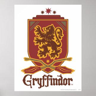 Insignia de Gryffindor Quidditch Póster
