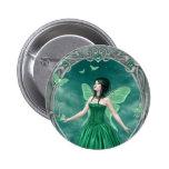 Insignia de hadas esmeralda del botón de Birthston Pin