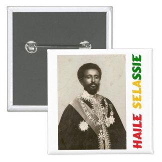 Insignia de Haile Selassie Pin Cuadrada 5 Cm