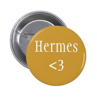 Insignia de Hermes <3 Pin Redondo 5 Cm