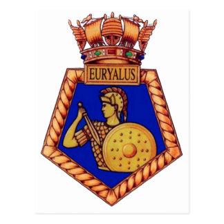 Insignia de HMS Euralyus, buque de guerra Postales