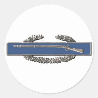 Insignia de infantería de combate pegatina redonda