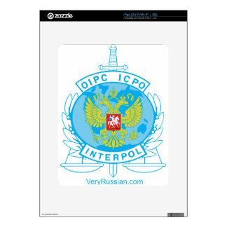 insignia de Interpol Rusia Skin Para El iPad