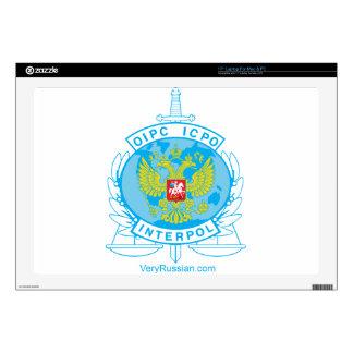 insignia de Interpol Rusia 43,2cm Portátil Calcomanías