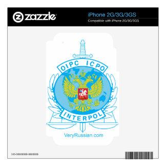 insignia de Interpol Rusia iPhone 3GS Skins