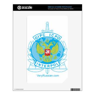 insignia de Interpol Rusia Skins Para elNOOK Color