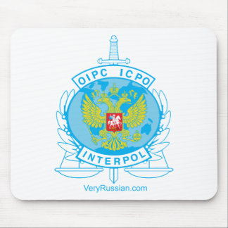 insignia de Interpol Rusia Alfombrillas De Raton