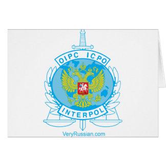 insignia de Interpol Rusia Felicitacion