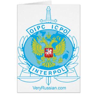 insignia de Interpol Rusia Tarjetas