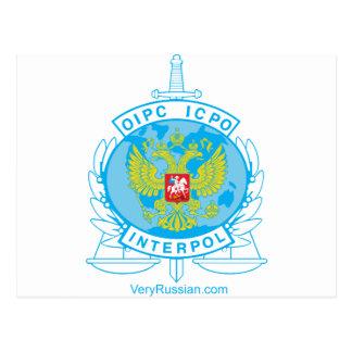 insignia de Interpol Rusia Postal