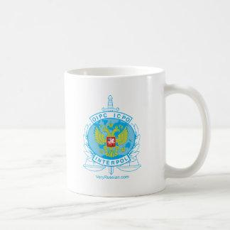 insignia de Interpol Rusia Taza De Café
