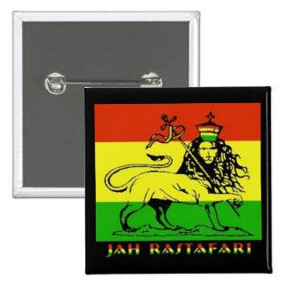 Insignia de Jah Rastafari Pin Cuadrado