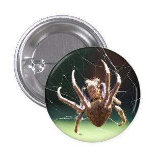 Insignia de la araña del tejedor del orbe del pin redondo de 1 pulgada