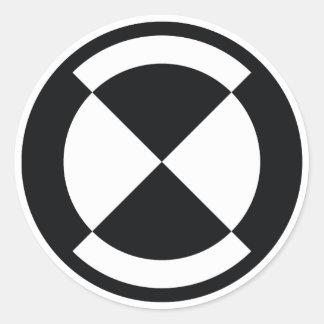insignia de la calibración - vagabundo de la pegatinas redondas
