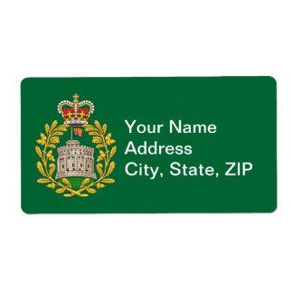Insignia de la casa de Windsor Etiqueta De Envío