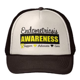Insignia de la conciencia de la endometriosis gorros