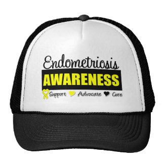 Insignia de la conciencia de la endometriosis gorro de camionero