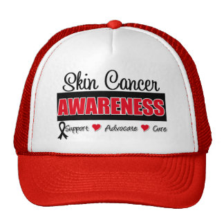 Insignia de la conciencia del cáncer de piel gorra