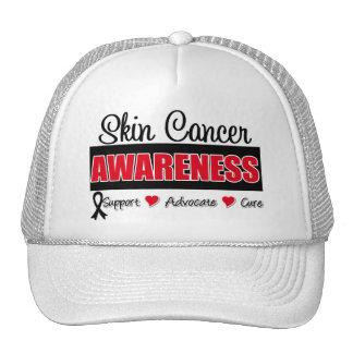 Insignia de la conciencia del cáncer de piel gorros
