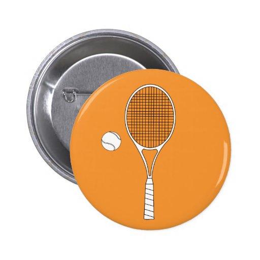 Insignia de la estafa de tenis y del botón de la b pin