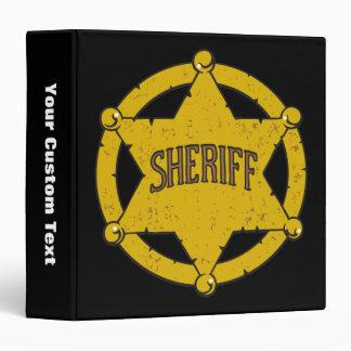 "Insignia de la estrella de los sheriffs carpeta 1 1/2"""