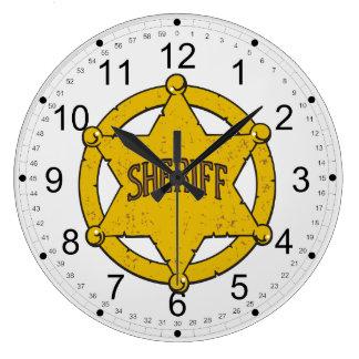 Insignia de la estrella de los sheriffs relojes de pared