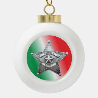 Insignia de la estrella del ayudante del sheriff adornos