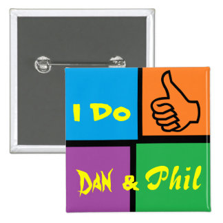 Insignia de la fan del dúo de Danisonfire y de Ama Pin Cuadrada 5 Cm