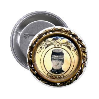Insignia de la guerra civil de McKinley - botón Pin Redondo De 2 Pulgadas
