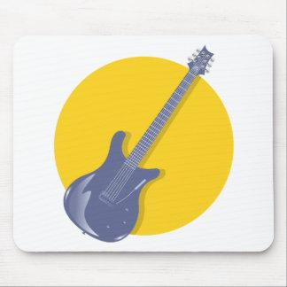 Insignia de la guitarra alfombrilla de ratones