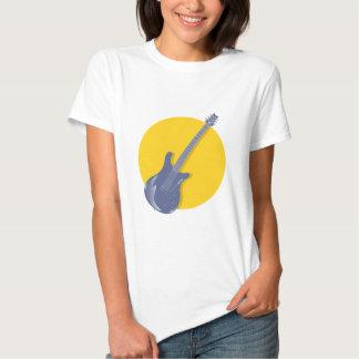 Insignia de la guitarra remera