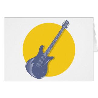 Insignia de la guitarra tarjeta de felicitación