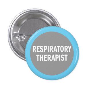 Insignia de la identificación del terapeuta respir pin redondo de 1 pulgada