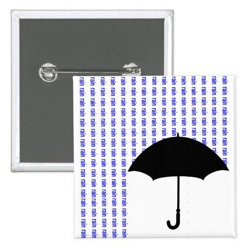 Insignia de la lluvia de la palabra pin