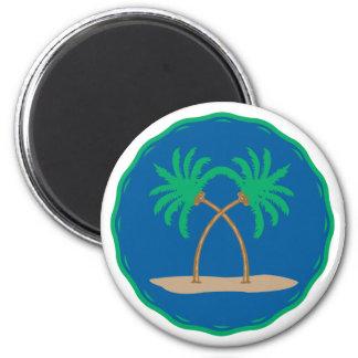 Insignia de la palmera imán redondo 5 cm