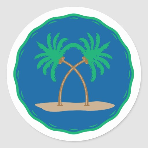 Insignia de la palmera pegatinas redondas