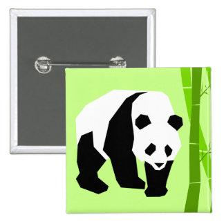 Insignia de la panda pin cuadrado