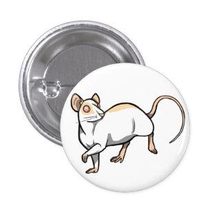 Insignia de la rata del cervatillo de Mismarked Pin Redondo 2,5 Cm