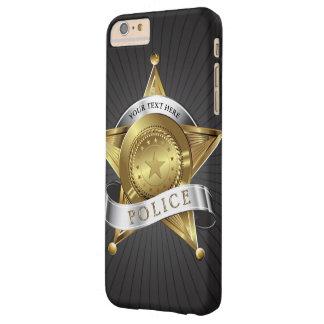 Insignia de la seguridad de la policía funda para iPhone 6 plus barely there