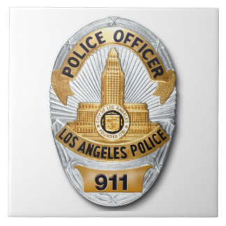 Insignia de LAPD Azulejo Cuadrado Grande