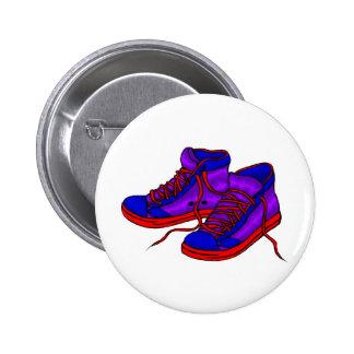 Insignia de las zapatillas de deporte pin redondo de 2 pulgadas