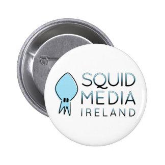 Insignia de los medios del calamar pin redondo de 2 pulgadas