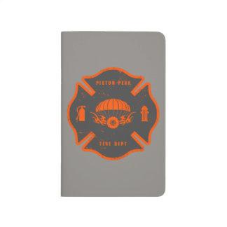 Insignia de los puentes del humo cuaderno grapado