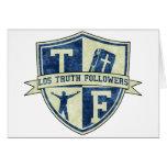 Insignia de los seguidores de la verdad del Los Tarjeta