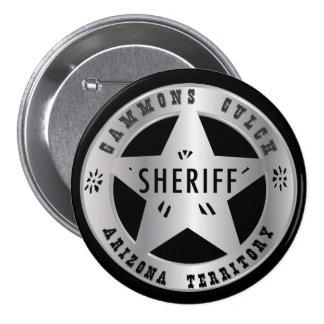 Insignia de los sheriffs de la quebrada de los Gam Pin Redondo De 3 Pulgadas