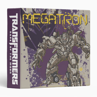 "Insignia de Megatron púrpura/amarillo Carpeta 1 1/2"""