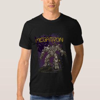 Insignia de Megatron púrpura/amarillo Playeras
