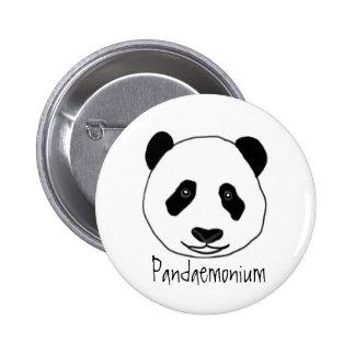 Insignia de Pandaemonium Pin Redondo De 2 Pulgadas