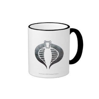 Insignia de plata de la cobra taza de café